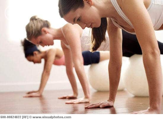 Women Doing Push-Ups