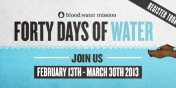 40 Days of Water Challenge with Blood:Water Missions Facebook Party