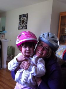 Me and Miss J getting ready to ride