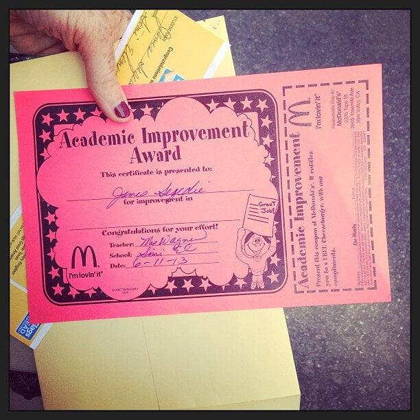 Bookieboo's son gets award from McDonald