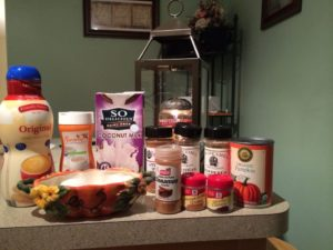 ingredients in vegan low glycemic pumpkin pie