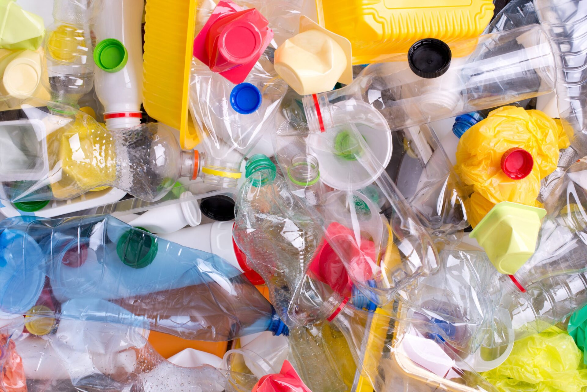 plastics in a landfill