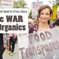 war on organics protester