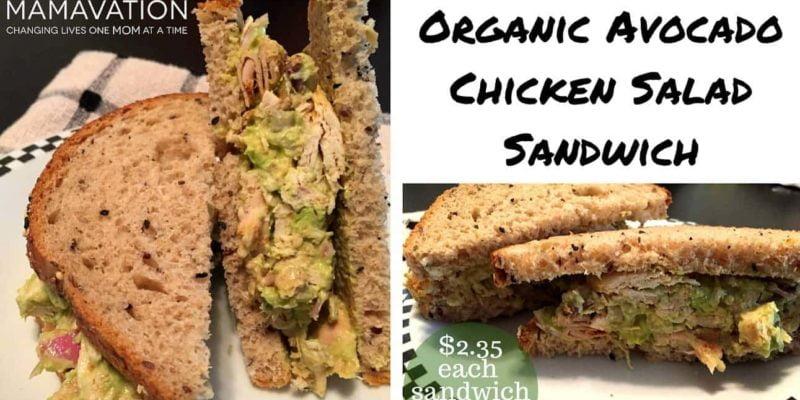 Organic Avocado Chicken Salad Sandwich 1