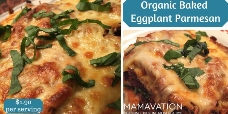 Organic Baked Eggplant Parmesan 1