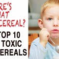 kid with cereal