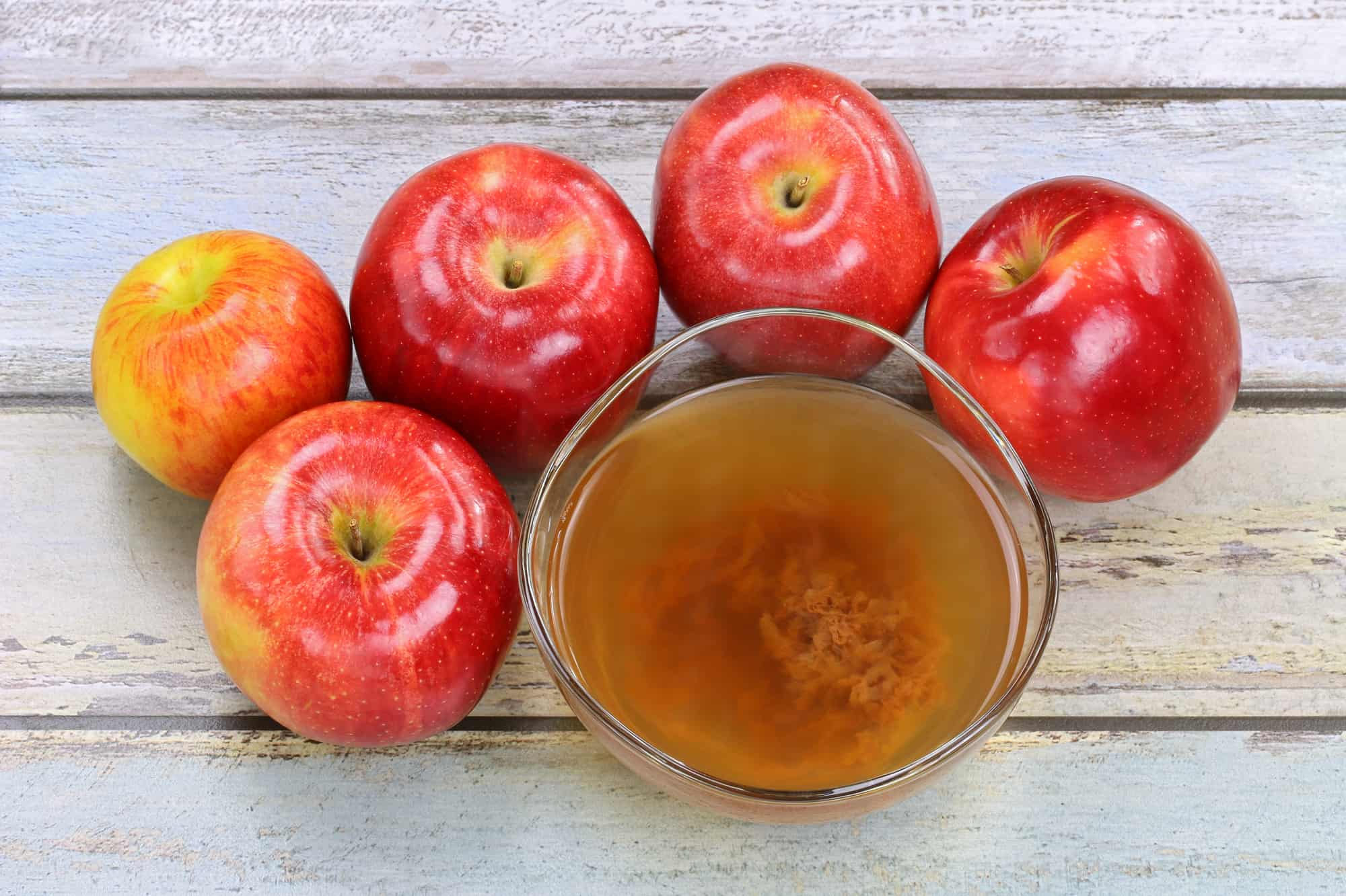 Apple cider vinegar with mother bacteria