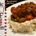This slow cooker beef stew is a hearty meal to please the whole family. The use of cauliflower instead potatoes makes this low-glycemic as well.
