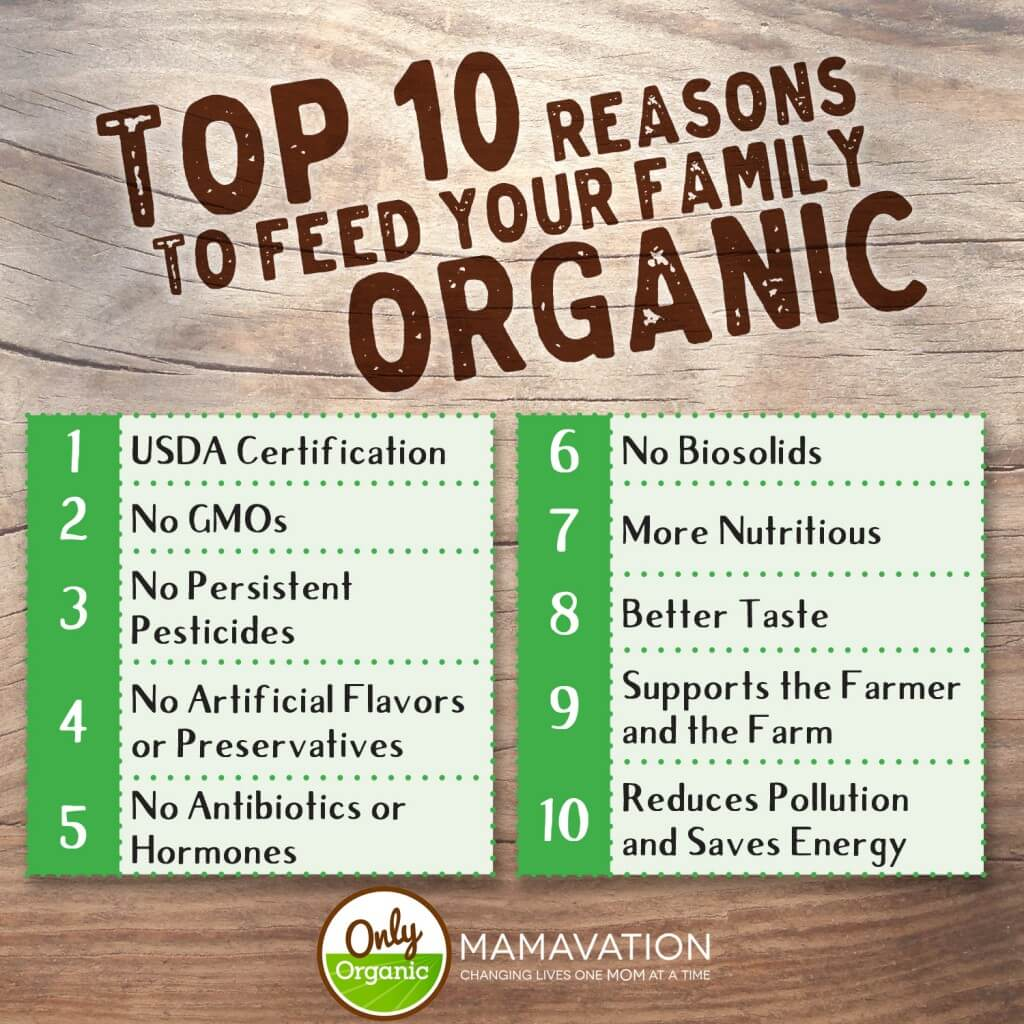 10 Reasons to feed your family organic food