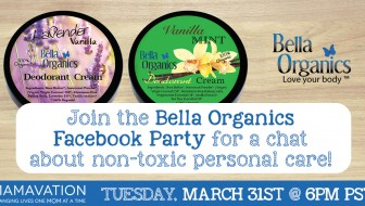 Bella Organics Facebook Party with Mamavation
