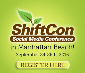 I'm going to ShiftCon Eco Wellness Social Media Conference