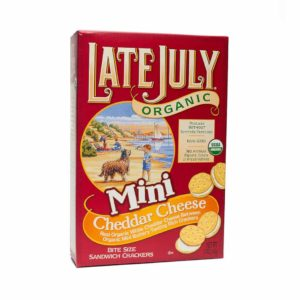 Late July Mini Cheddar Cheese Crackers- Healthy Packed Lunch Ideas