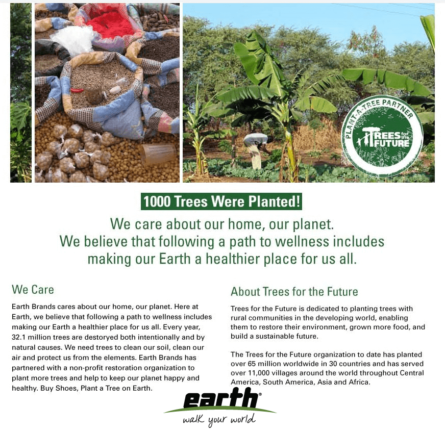 trees for the earth, Earth Footwear