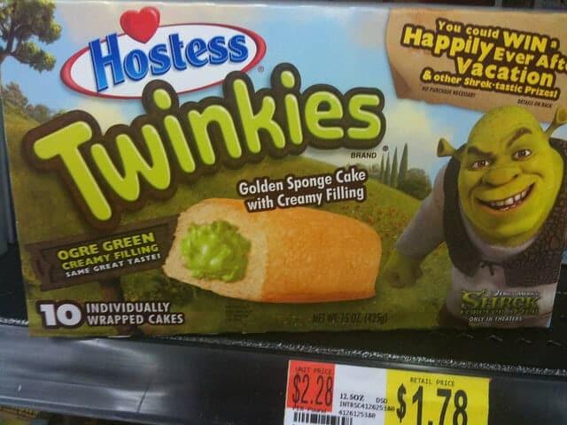 Shrek Green Ogre Twinkies