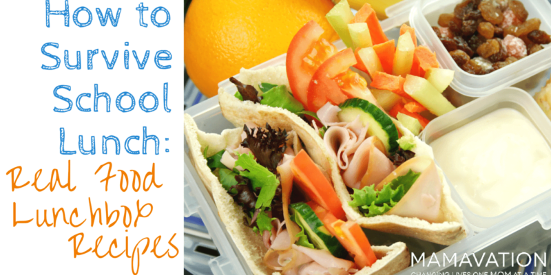 Real Food Lunchbox Recipes: How to Survive School Lunch 1