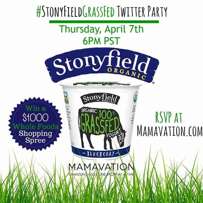 Stonyfield #StonyFieldGrassFed Twitter Party