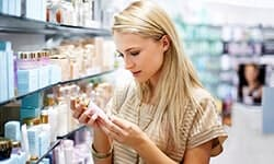 Woman in Cosmetics Section