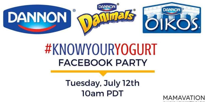 Dannon Pledge Facebook Party July 12th
