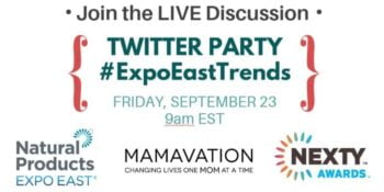 Expo East Twitter Party September 23rd #ExpoEastTrends
