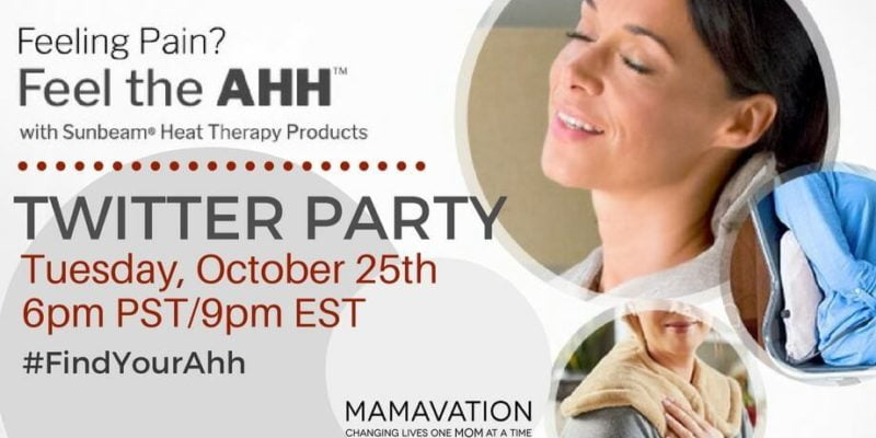 Sunbeam® Twitter Party October 25th #FindYourAhh