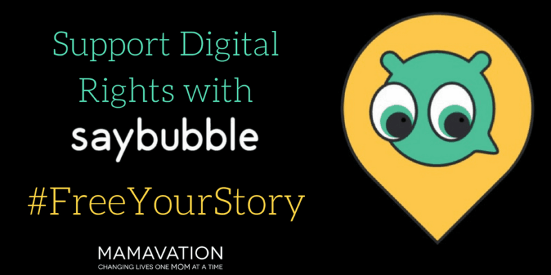Support Digital Rights with Saybubble