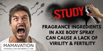 Study: Fragrance Ingredients in Axe Body Spray is Connected With a Lack of Virility & Fertility