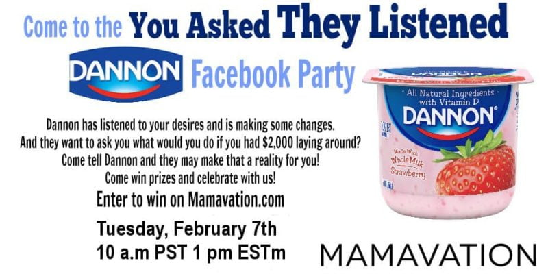 You Asked They Listened Dannon Facebook Party