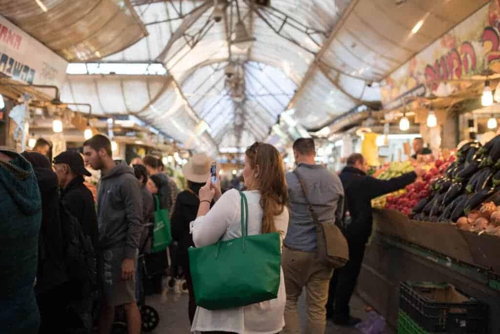 open air markets in israel