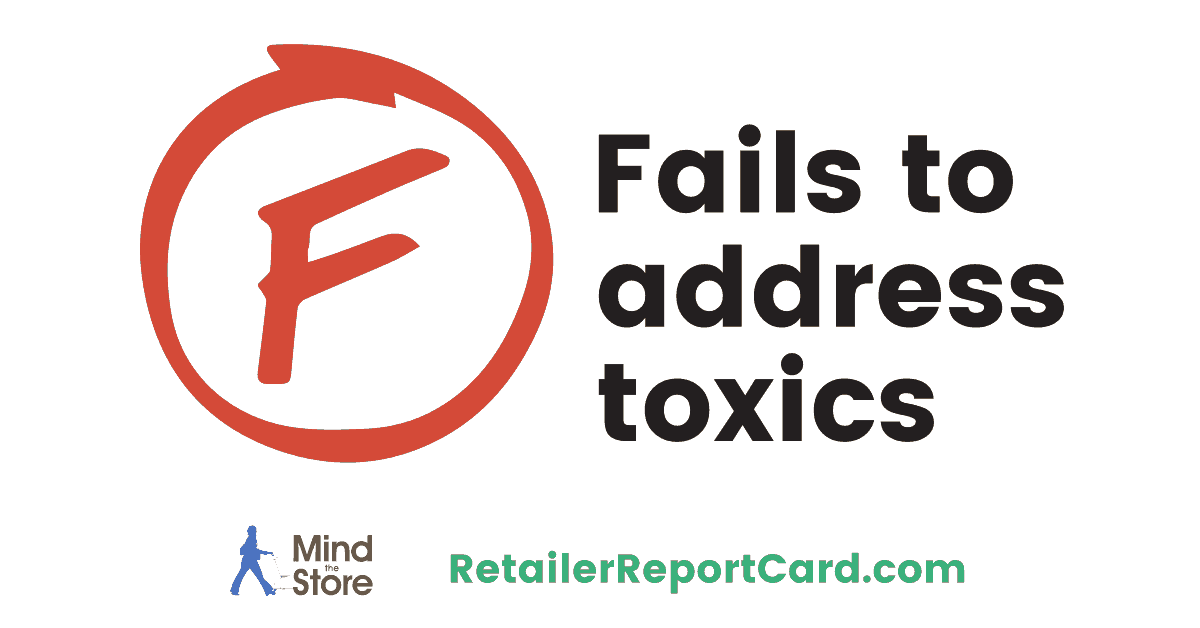 Which companies failed to address toxic and use safer chemicals