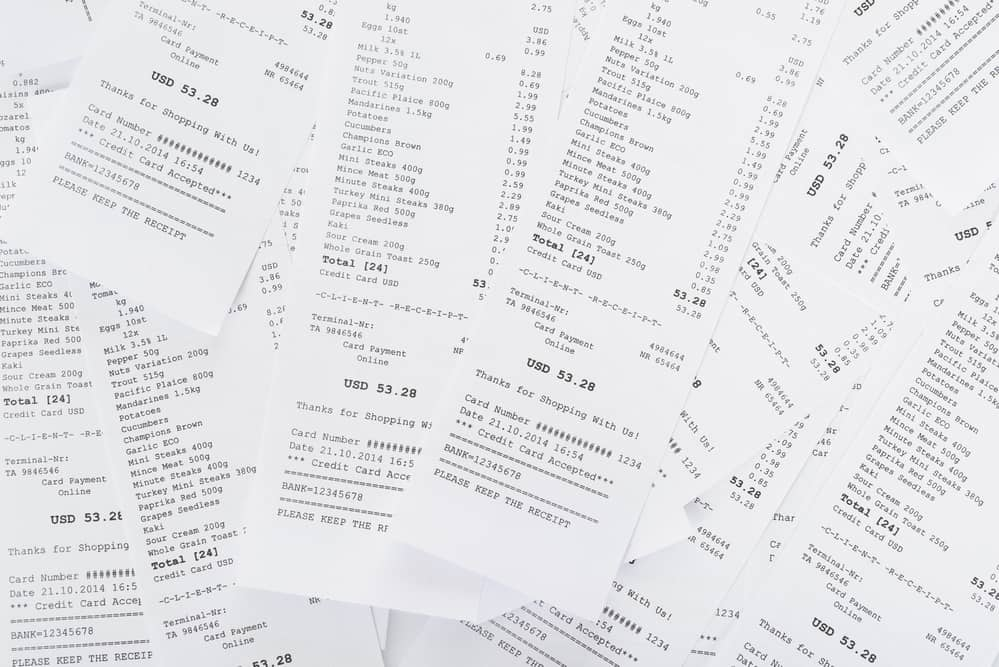 BPA found in thermal receipt paper