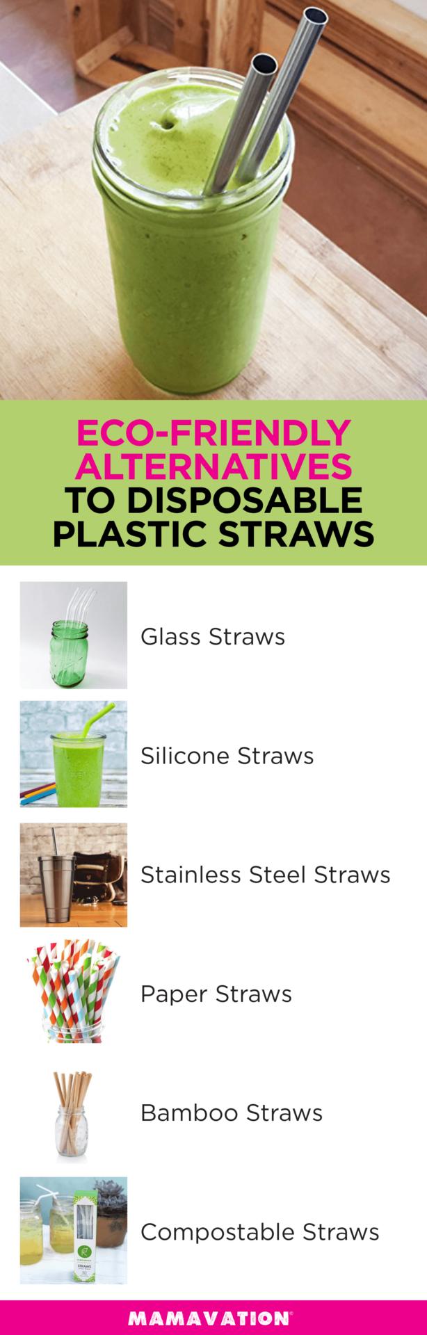 Eco-friendly alternatives to disposable plastic straws