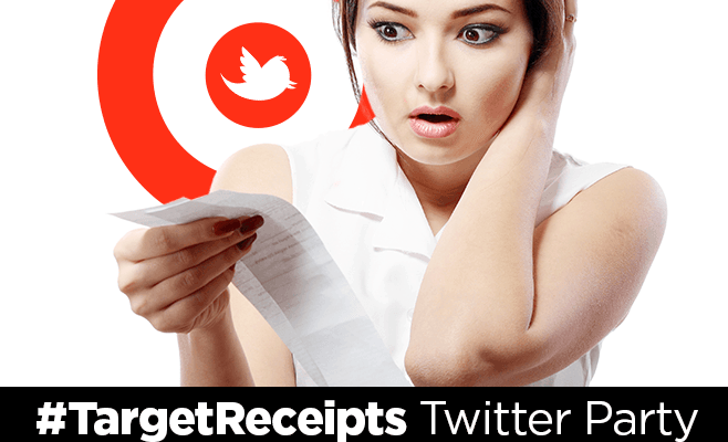 Join the #targetreceipts Twitter Party Tuesday at 6pm PST