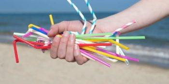 plastic single use straws