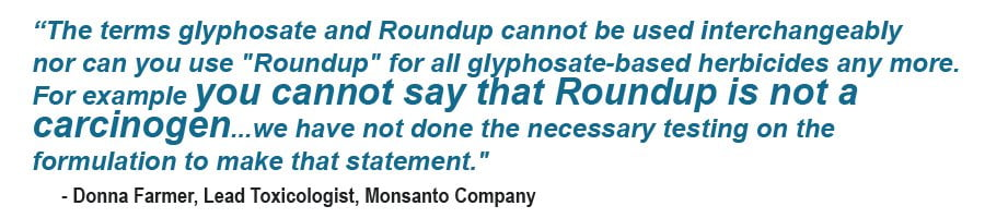 Glyphosate home testing kits for food & water