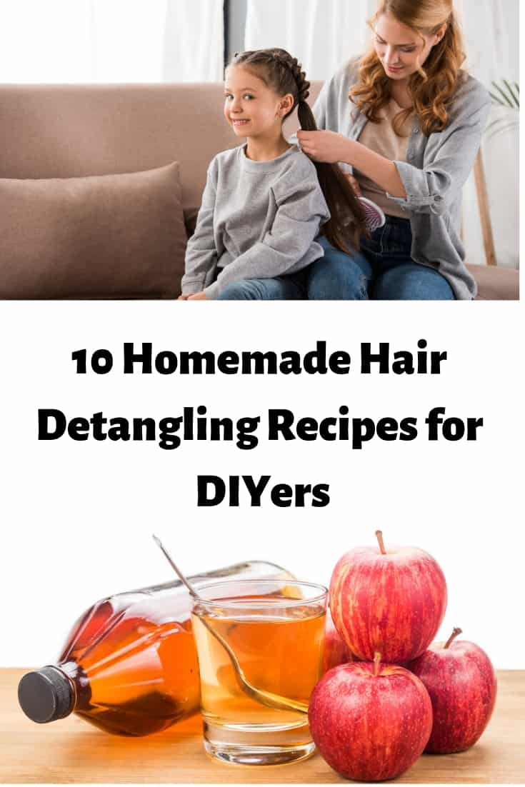 natural homemade hair detangling recipes for DIYers