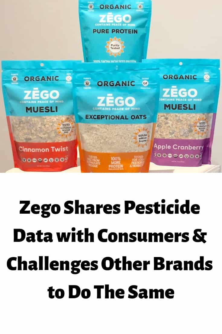 Food brand Zego shares their pesticide data with consumers and challenges other brands to do the same thing.
