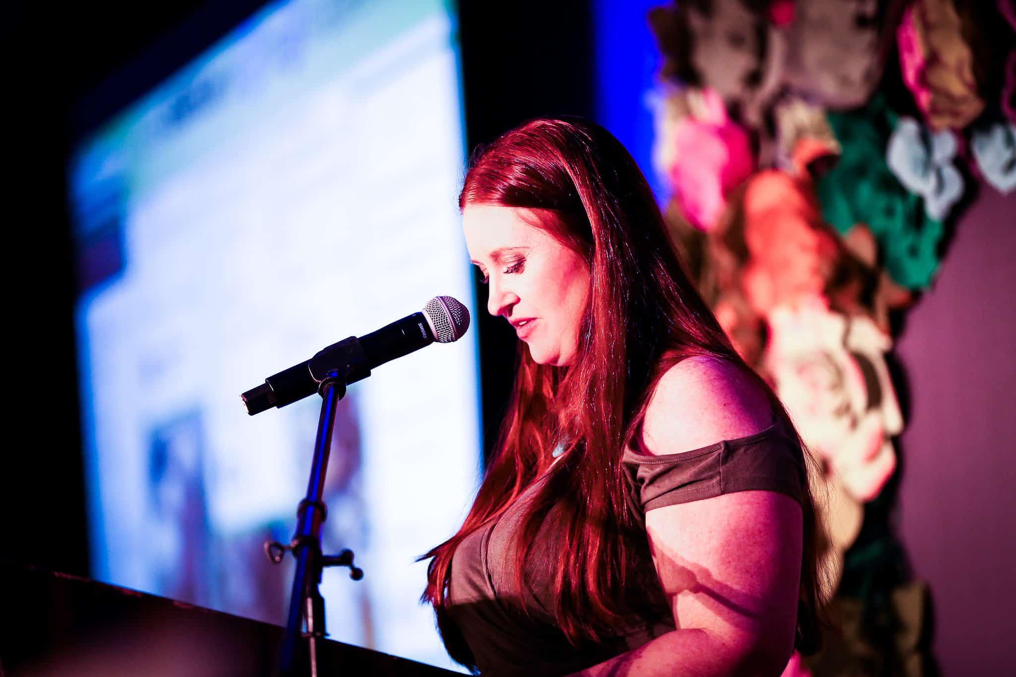 Leah Segedie at Podium
