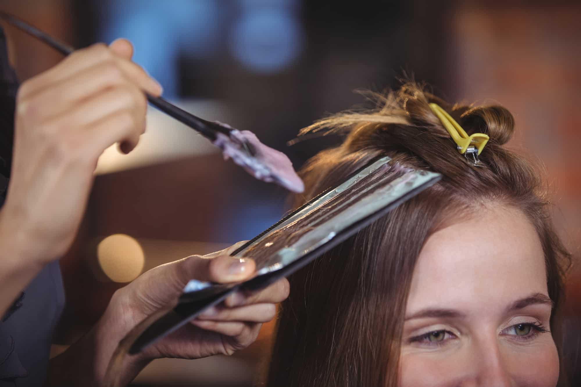 toxic hair dye application