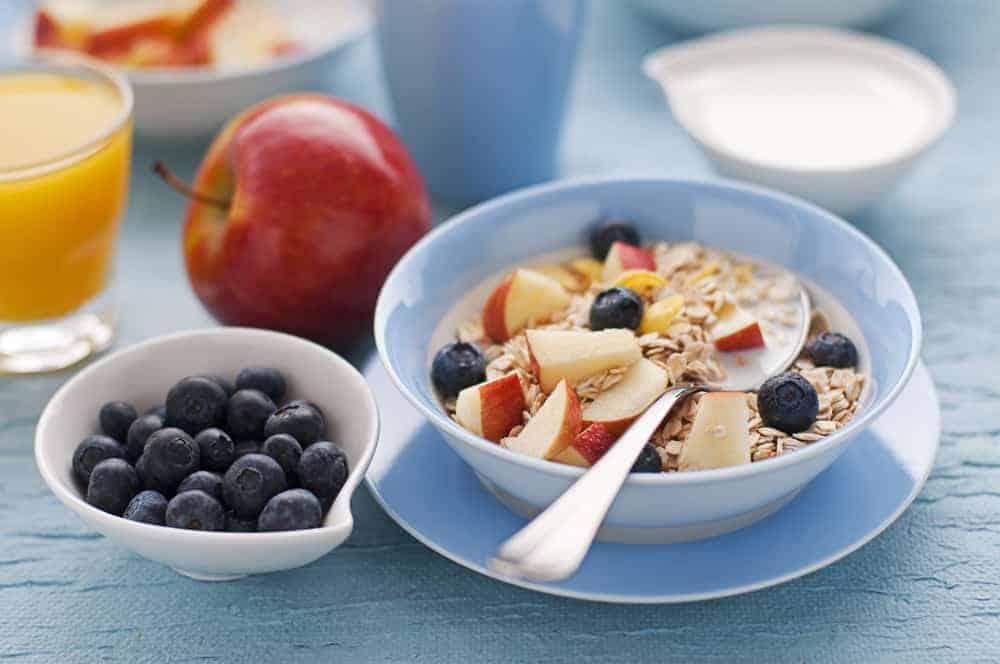Healthy oatmeal breakfast containing glyphosate herbicide