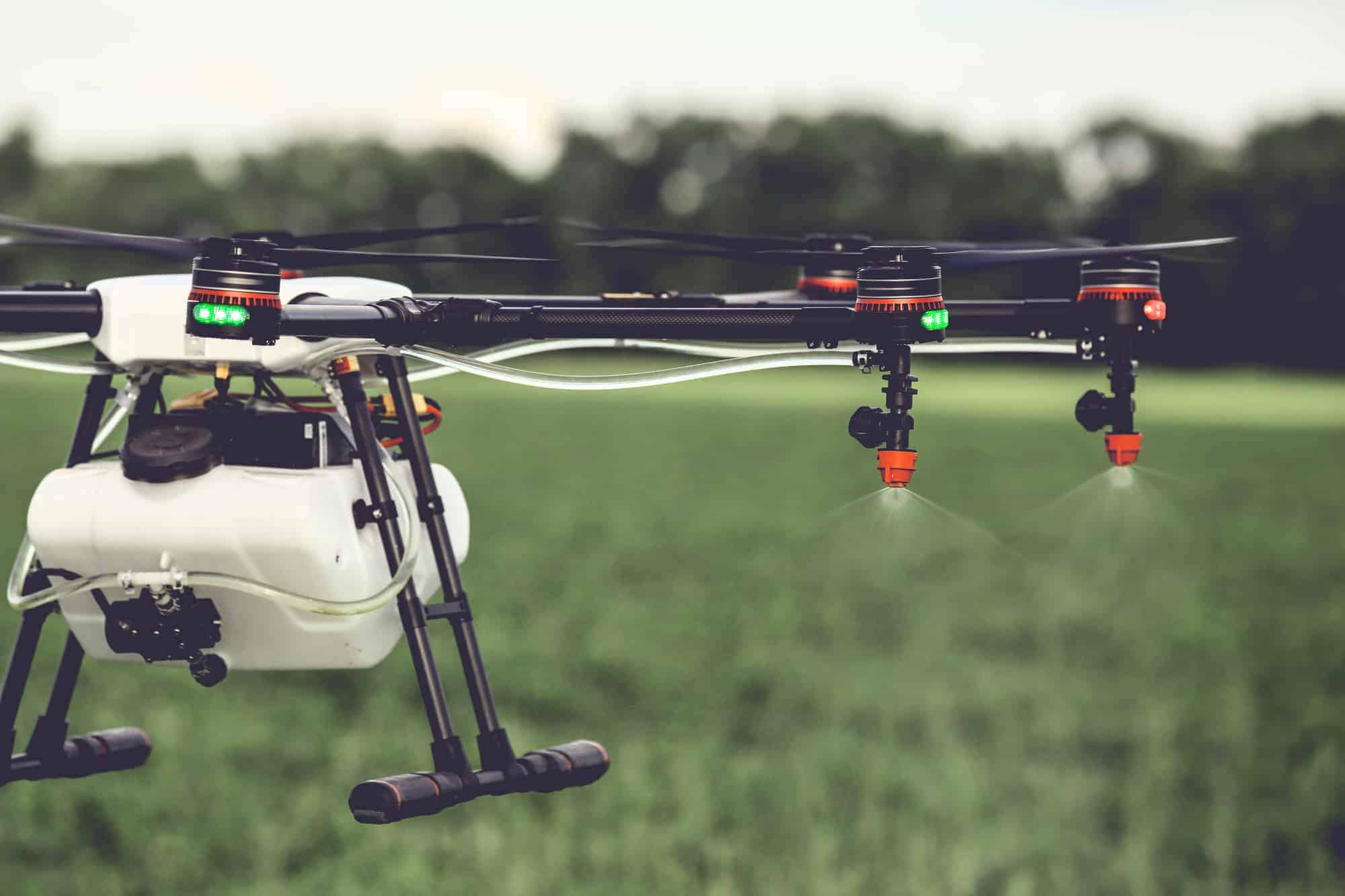 aerial spraying of glyphosate on crops