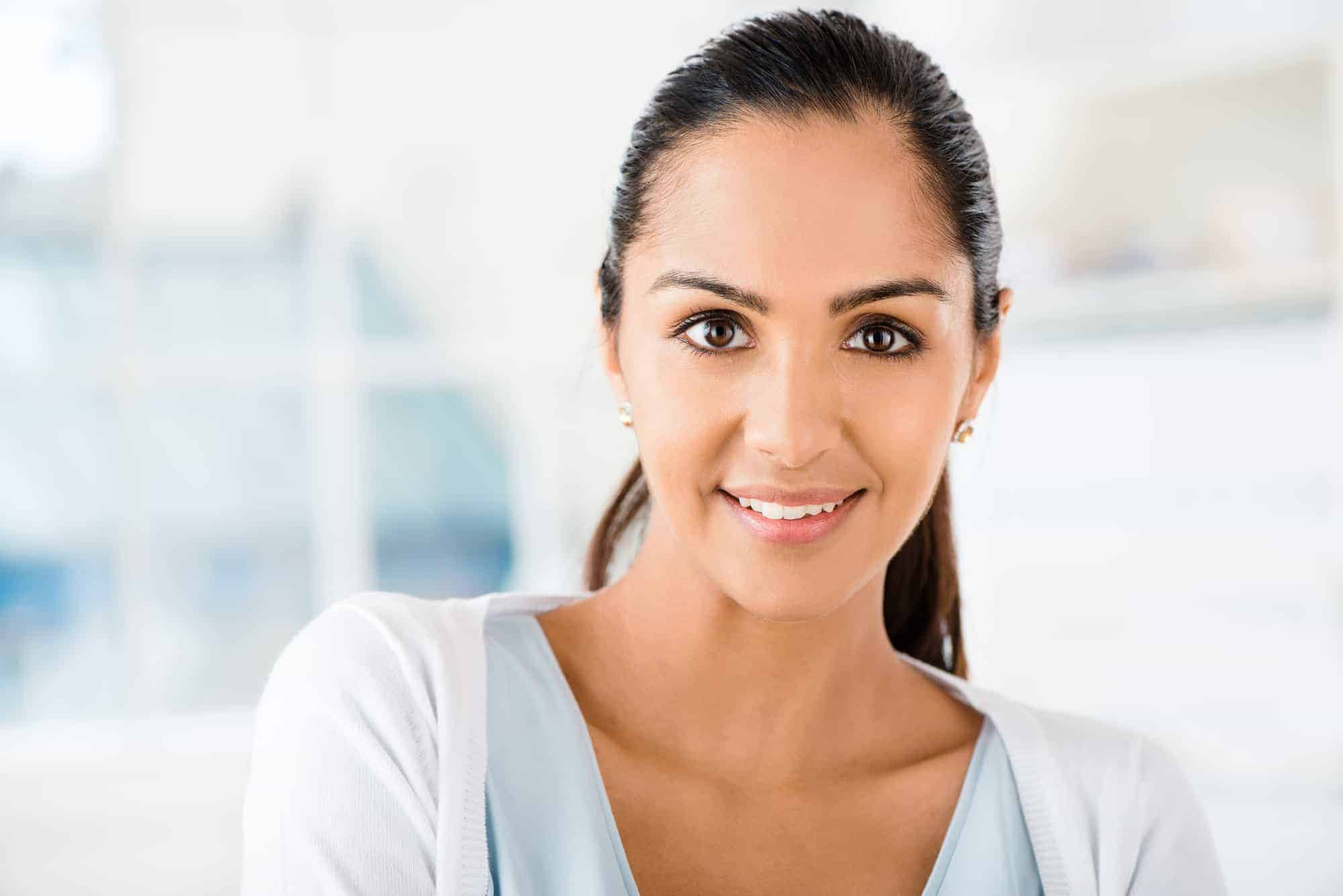 beautiful Indian woman smiling