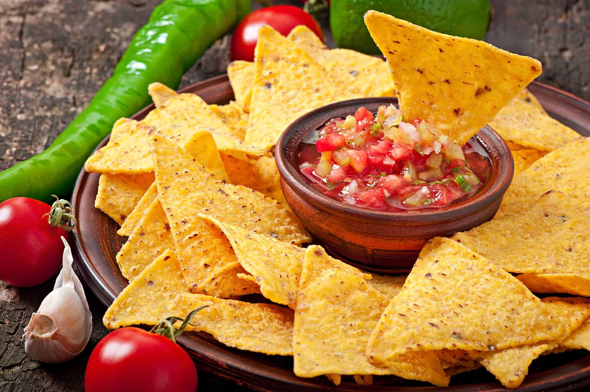 Chips & salsa at a party