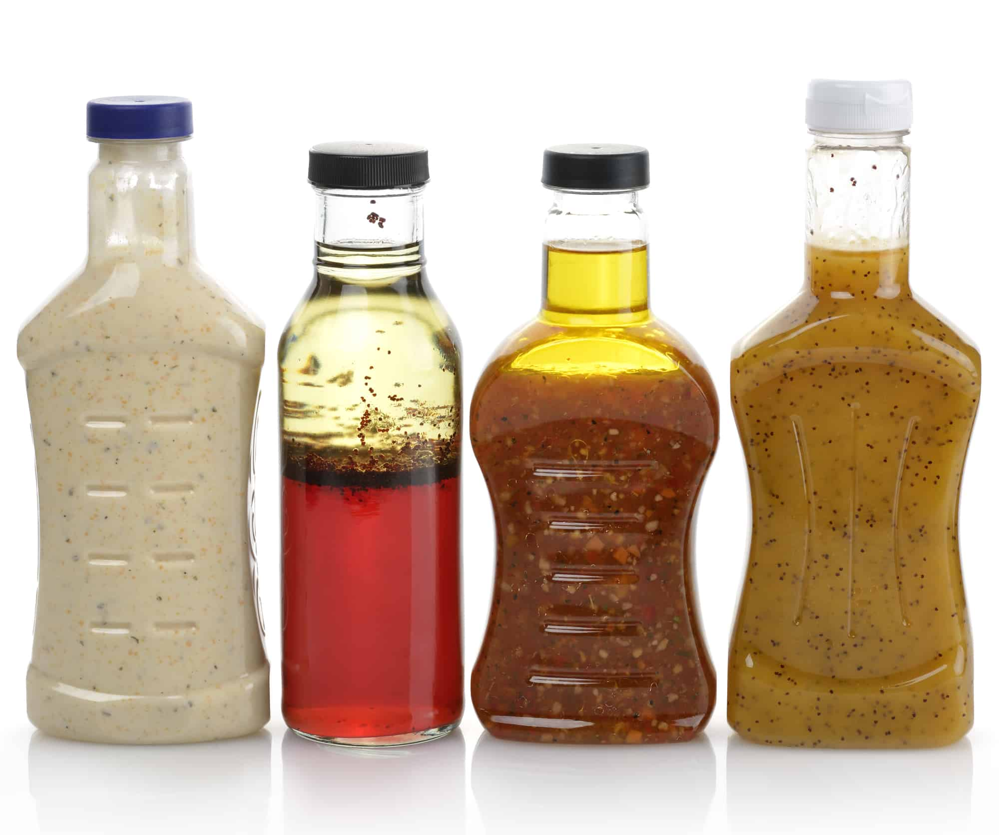 Assortment Of organic Salad Dressing Bottles