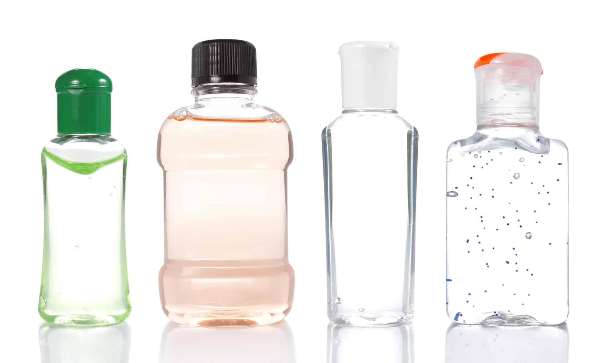 Different organic hand sanitizers