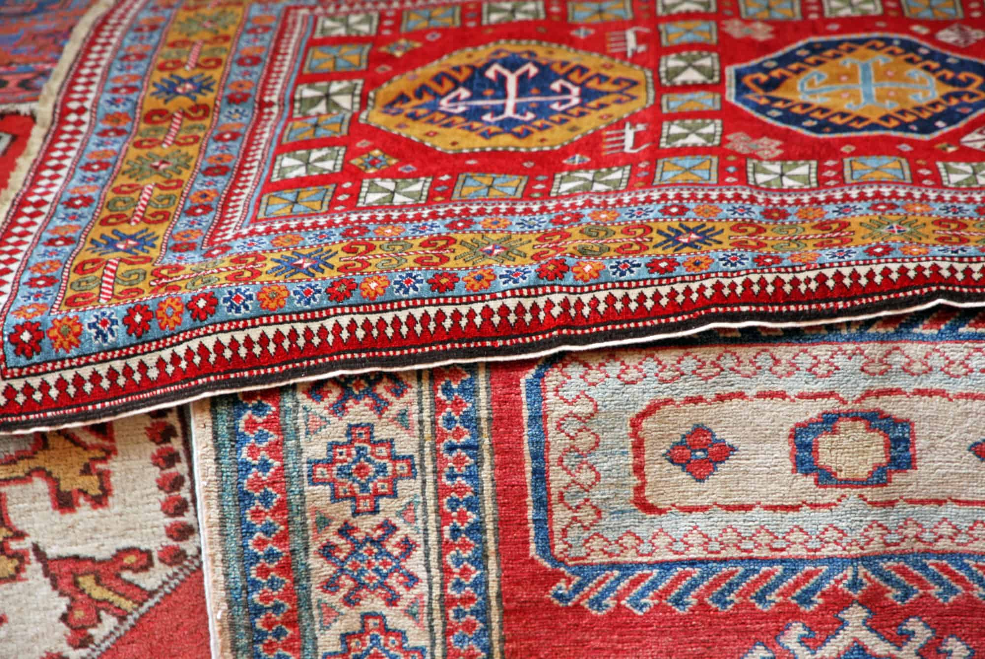 collection of oriental carpets