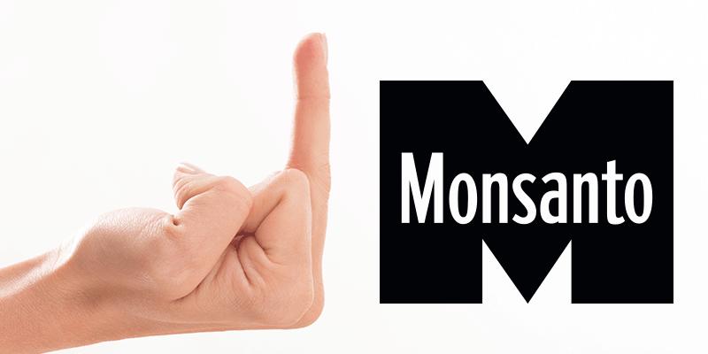 Man giving Monsanto the finger