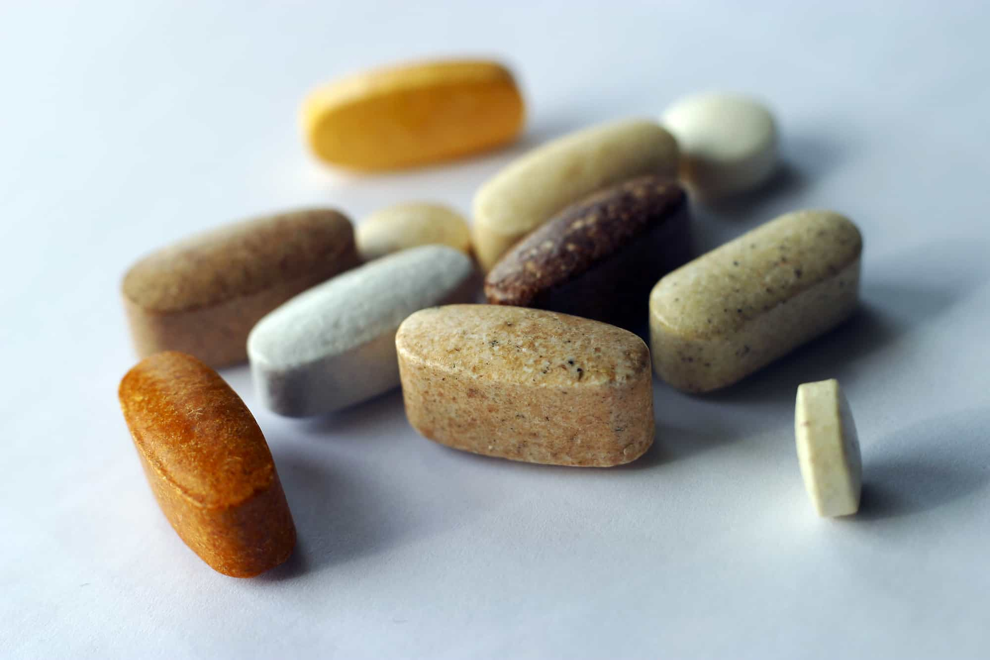Closeup of vitamins