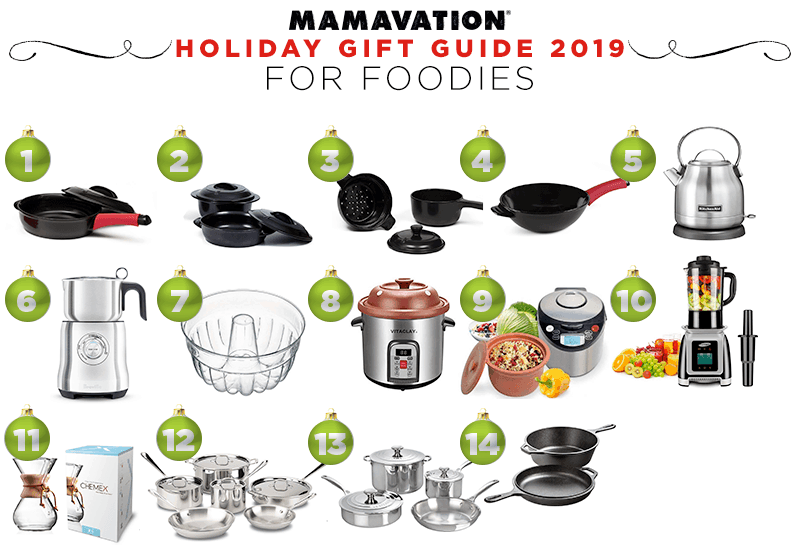 Mamavation's Holiday gift guide for foodies in 2019