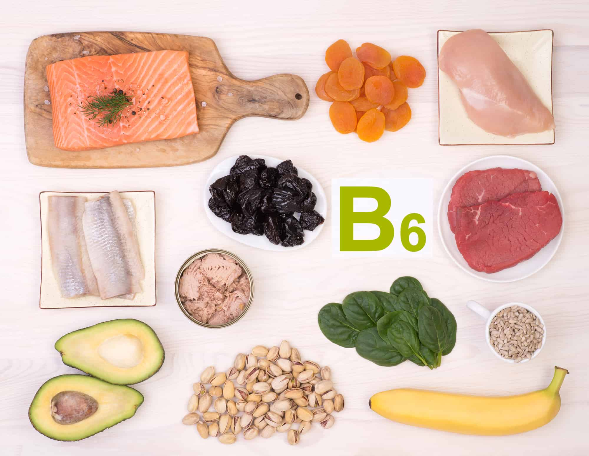 Foods containing the most B6 vitamin