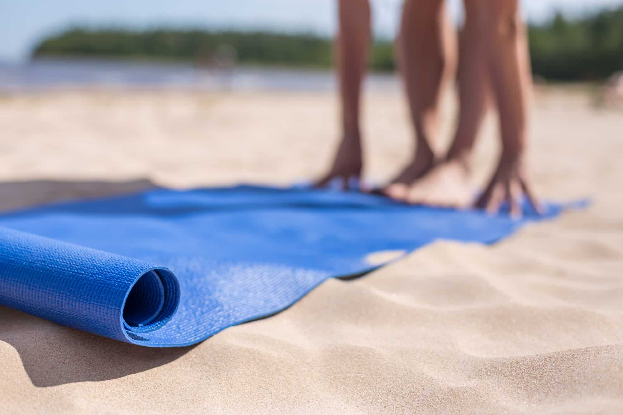 Yoga Mats on the beach